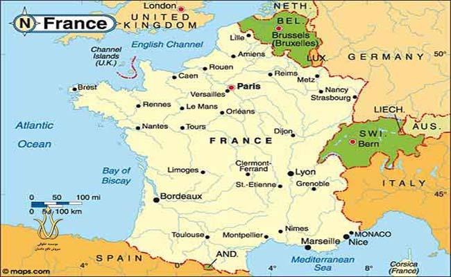 جغرافیای کشور فرانسه و شهرهای فرانسه