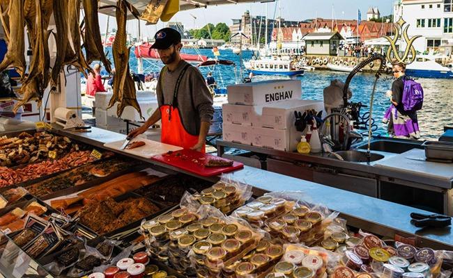 بازار ماهی برگن شهرهای نروز