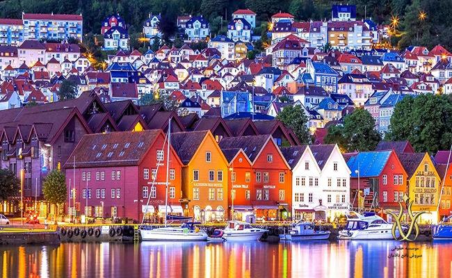 شهر برگن در کشور نروژ ویزای شینگن اروپا